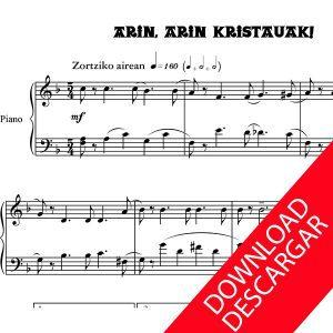 Arin arin kristauok - Partitura para Piano - Arreglo de Yuri Pronin