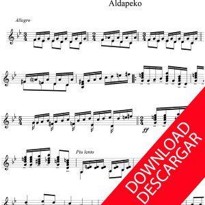 3 piezas para la guitarra de Celedonio Romero - Aita Madina - Partitura para Guitarra