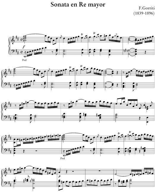 Sonata en re Felipe Gorriti