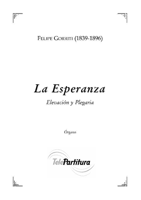 La Esperanza - Felipe Gorriti - Partitura