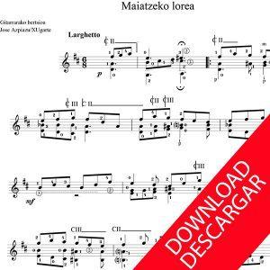3 TRANSCRIPCIONES PARA GUITARRA -Aita Madina - Partitura para Guitarra