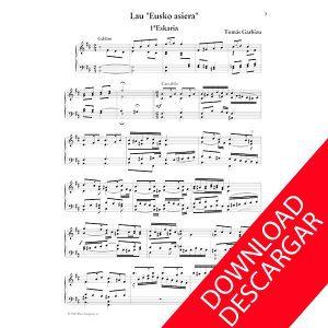Cuatro preludios vascos Piano Partitura Tomás Gaebizu