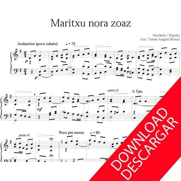 Maritxu nora zoaz? Piano