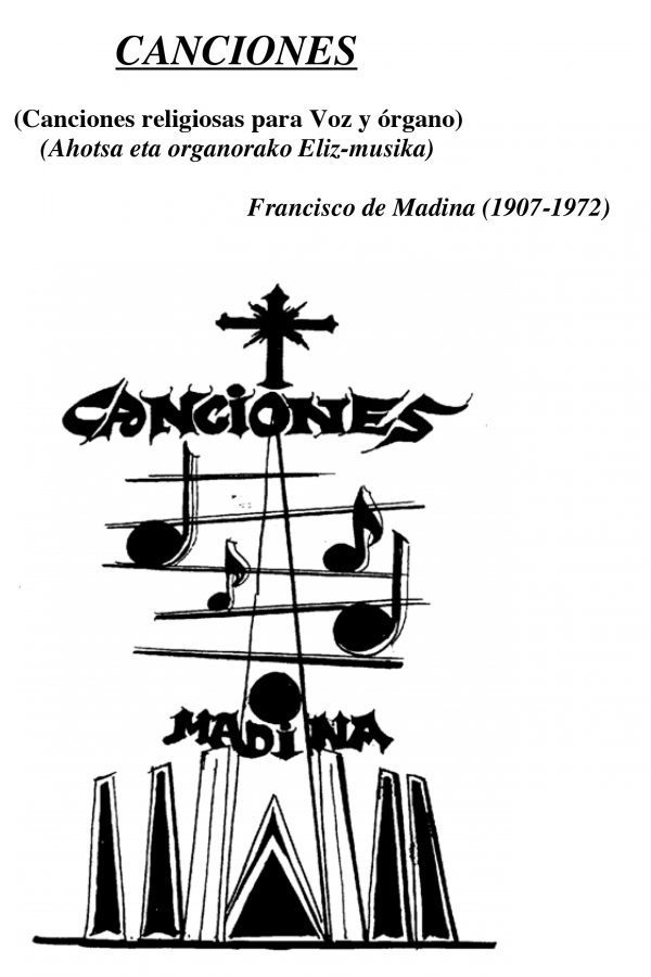 Canciones religiosas para Voz y Órgano - Aita Madina - Partitura