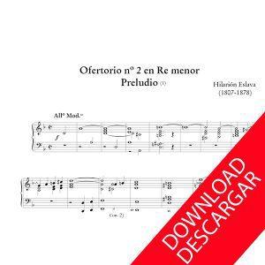 Ofertorio 2 Re menor Hilarión Eslava Órgano
