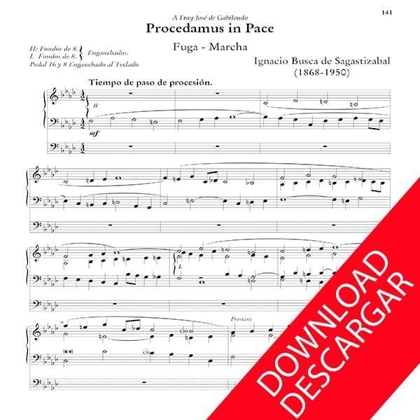 Procedamus in pace - Órgano - Ignacio Busca de Sagastizabal - Partitura