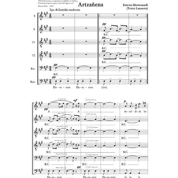 Abesbatzarako musika, Música para coros - Aita Madina