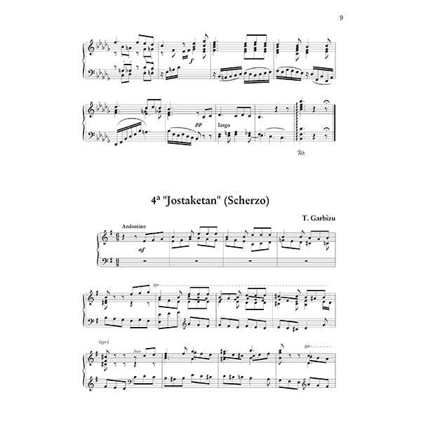 4 Preludios vascos para piano Tomás Garbizu