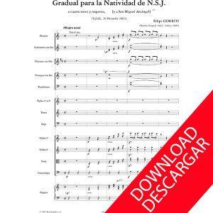 Gradual para la natividad de Nuestro Señor Jesucristo - Felipe Gorriti