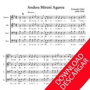 Andera Mireni Agurra - Fernando Urkia - Partitura para Coro