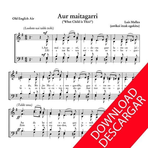 Haur maitagarri - Luis Mallea - Partitura para Coro