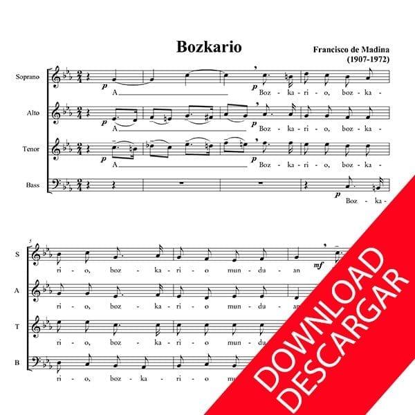 Bozkario - Aita Madina - Partitura para Coro