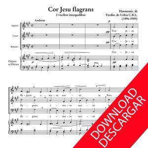 Cor Jesu flagrans - Fernando Urkia - Partitura para Coro y Órgano