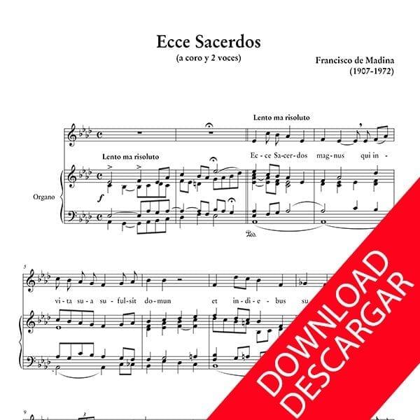 Ecce Sacerdos - Aita Madina - Partitura para Coro a 2 voces y Órgano