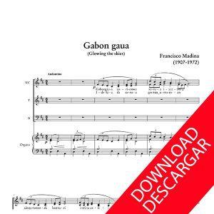 Gabon gaua - Aita Madina - Partitura para Coro y Órgano