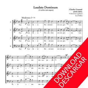 Laudate Dominum - Charles Gounod - Arreglo para 4 voces de Luis Mallea