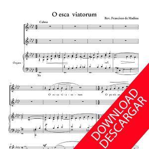 O esca viatorum - Aita Madina - Partitura para Coro y Órgano