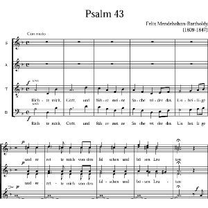Salmo 43 Felix Mendelssohn