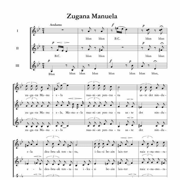 Zugana Manuela - Ala baita - Tomas Garbizu