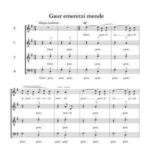 Gaur emeretzi mende - Ala baita - Tomas Garbizu