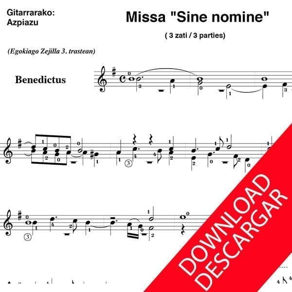 """Misa """"Sine nomine"""" Anchieta"""