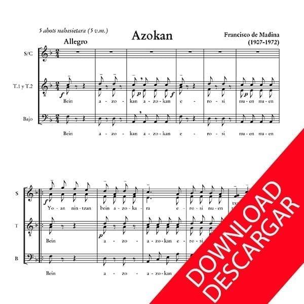 Azokan - Aita Madina - Abesbatzarako musika