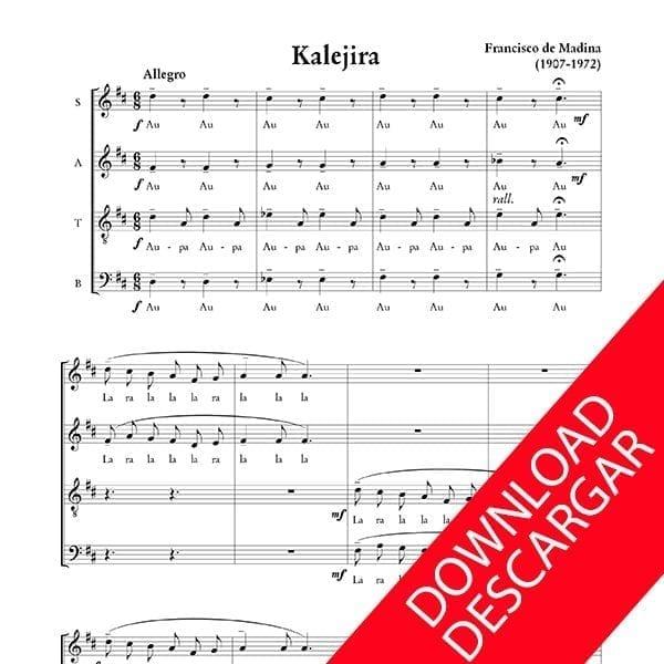 Kalejira - Aita Madina - Abesbatzarako musika