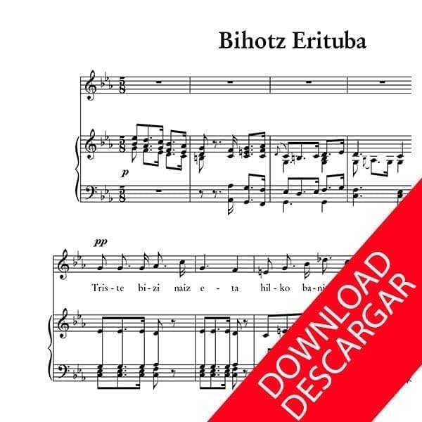 Bihotz erituba - Letra: Indalezio Bizkarrondo, Bilintx