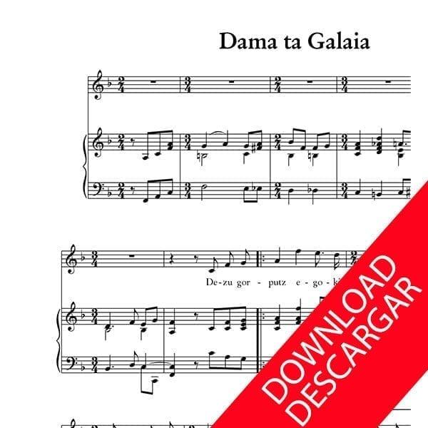 Dama ta Galaia - Letra Indalezio Bizkarrondo, Bilintx