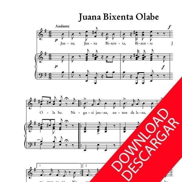 Juana Bixente Olabe - Raimundo Sarriegi - Indalezio Bizkarrondo, Bilintx