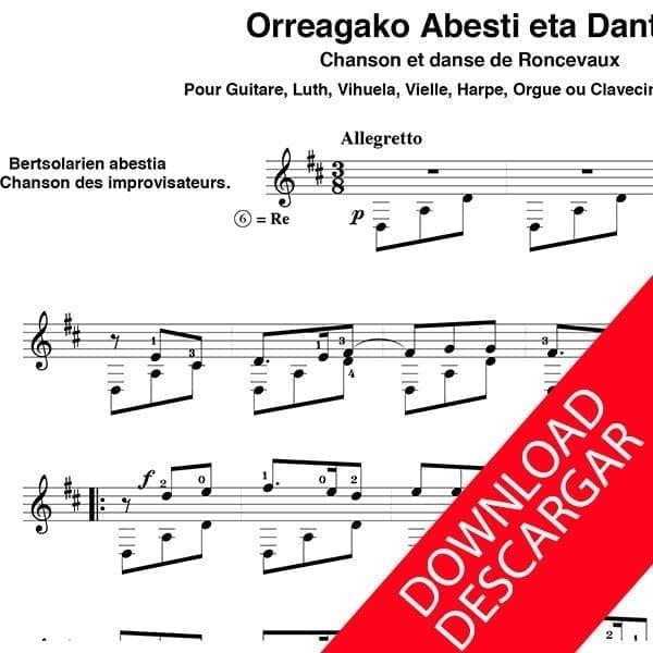 Orreagako abesti eta dantza - José de Azpiazu