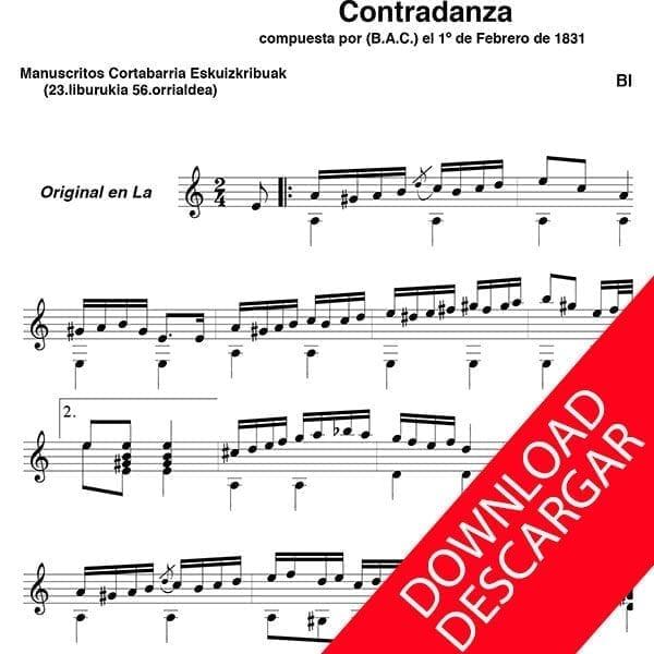 Contradanza - Blás Andrés Cortabarria (1812-1855)