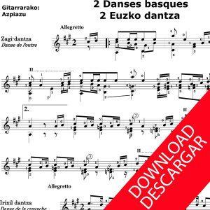 2 euzko dantza - Aita Donostia - Moldaketa José de Azpiazu