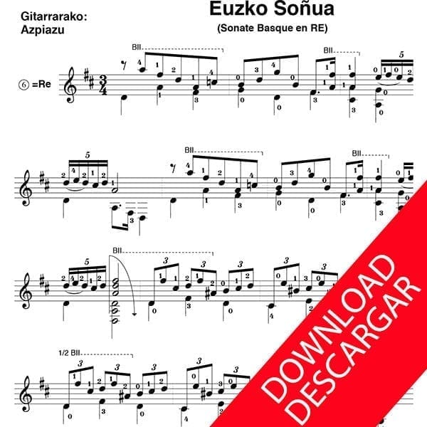 Euzko soñua - Sonate basque - José de Larrañaga - José de Azpiazu