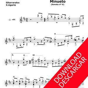 Minueto de la Sonata 6 - Nicolás Ledesma - Xabier Ugarte