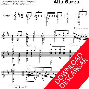 Aita Gurea - Aita Madina - Arr.: Xabier Ugarte