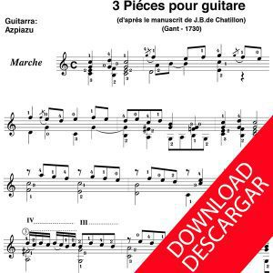 3 pieces pour guitare - Miguel Pérez de Zavala - José de Azpiazu