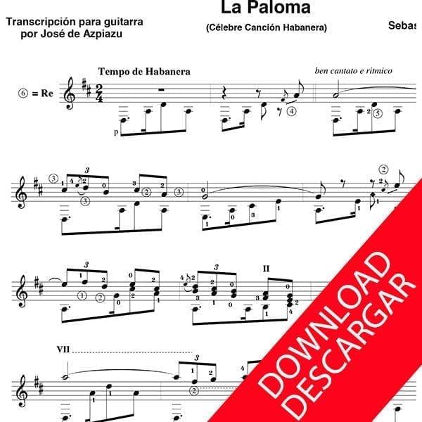 La Paloma - Sebastián Yradier - José de Azpiazu