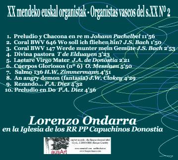 daAr055 Lorenzo Ondarra en concierto Programa