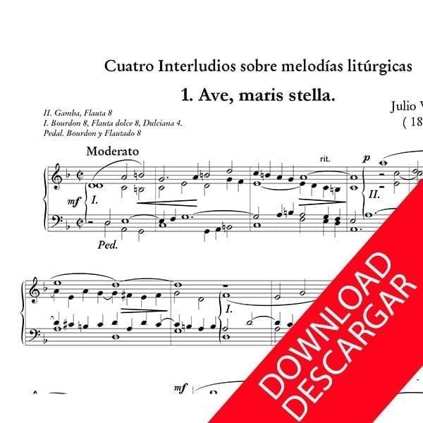 Cuatro interludios sobre melodías litúrgicas - Julio Valdés - Partitura para Órgano