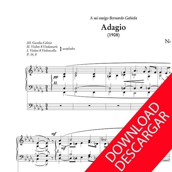 Adagio - Nemesio Otaño - Partitura para órgano