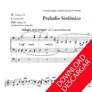 Preludio Sinfónico - Nemesio Otaño - Partitura para Órgano