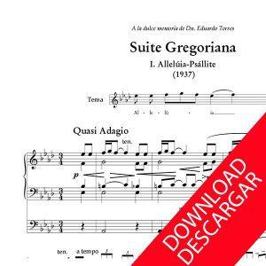 Suite gregoriana - Nemesio Otaño - Partitura para Órgano