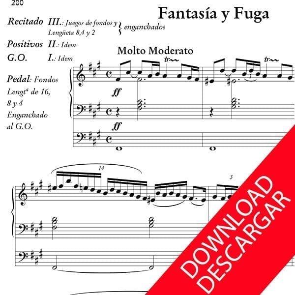 Fantasía y Fuga - Bernardo Gabiola - Partitura para órgano