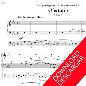 Ofertorio - José María Beobide - Partitura en descarga PDF