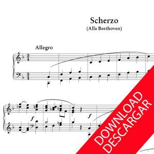 Scherzo alla Beethoven - José María Beobide - Partitura para Órgano