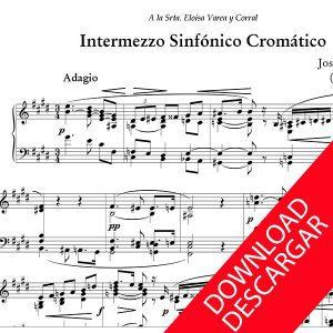 Intermezzo Sinfónico Cromático - José María Beobide - Partitura para Órgano
