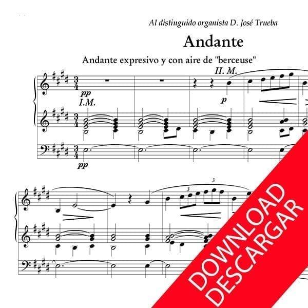 Andante - José María Beobide - Partitura para Órgano