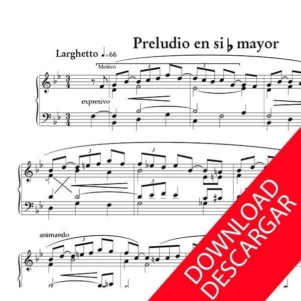 Preludio en Si b - José María Beobide - Partitura para Órgano
