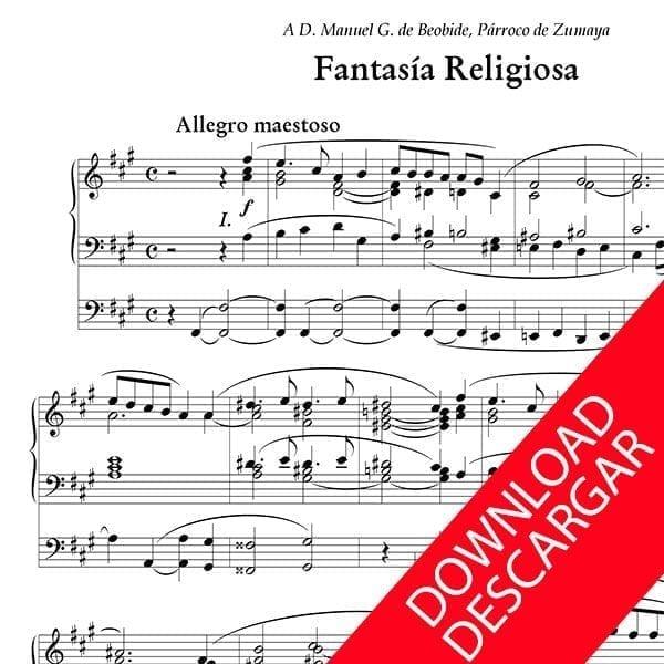 Fantasía Religiosa - Luis Urteaga - Partitura para Órgano